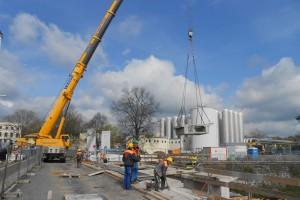 Fernsehbeitrag Baustelle Georgbrücke