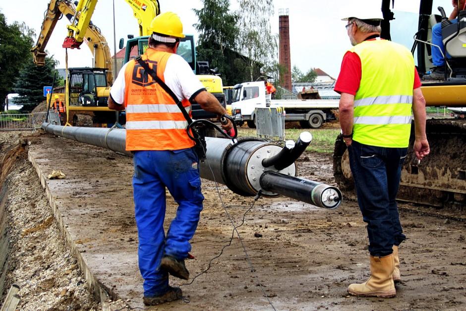 Komplettauswechslung Erdgasleitung