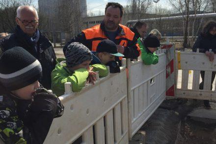 Baustellenexkursion für Kinder